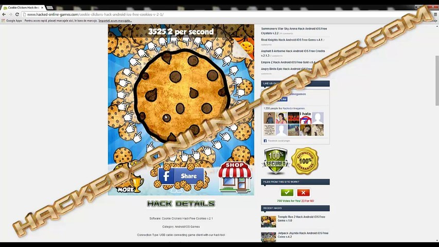[iOS & Android] Cookie Clickers Cheats Android iOS No Surveys [Free Cookies]