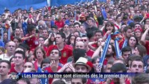 Espagne-Chili: les supporteurs espagnols sous le choc