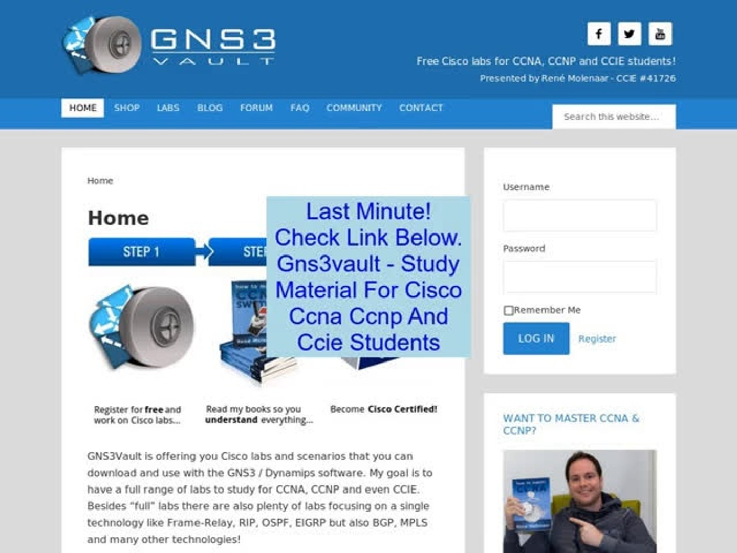 Discount on Gns3vault - Study Material For Cisco Ccna Ccnp And Ccie Students