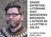 Comédie du Livre 2014 - Grand entretien littéraire avec Bergsveinn Birgisson