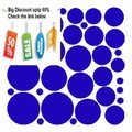 Best Price 34 VIBRANT BLUE POLKA DOTS...WALL STICKERS DECALS ART DECOR Review