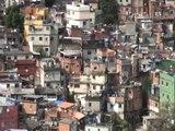 Vue de Rocinha, la plus grande favela de Rio
