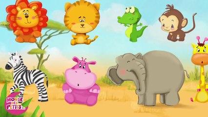 Dessin animé : Apprendre les animaux de la savane pour les enfants