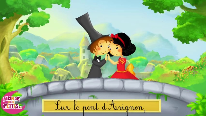Dessin animé : Sur le pont d'Avignon pour les enfants