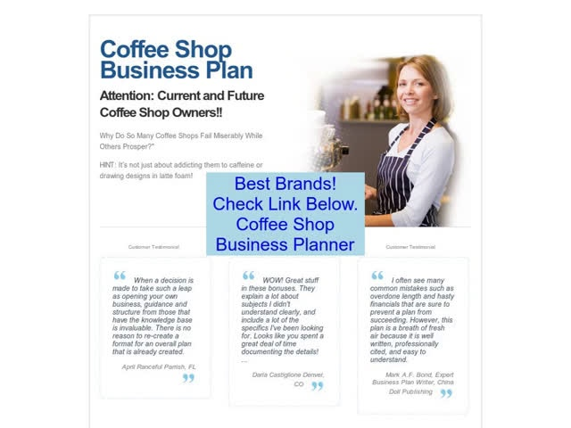 Discount on Coffee Shop Business Planner