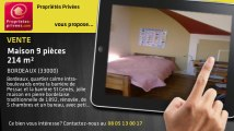 A vendre - maison - BORDEAUX (33000) - 9 pièces - 214m²
