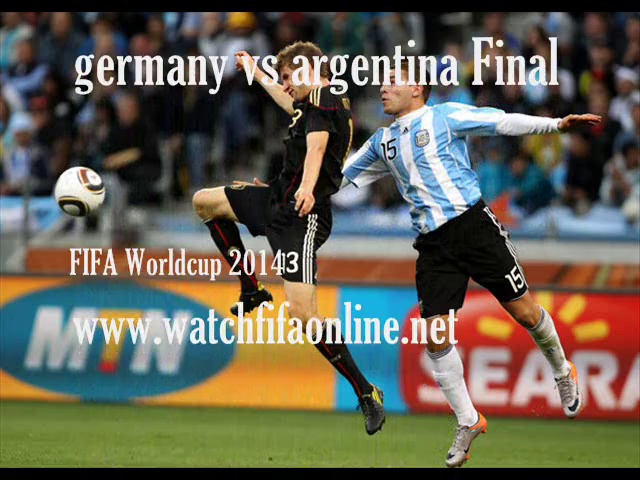 FIFA World Cup 2014 FINAL Live Telecast