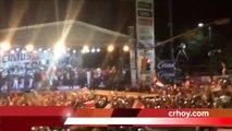 Costa Rica é recebida com festa histórica por sua torcida