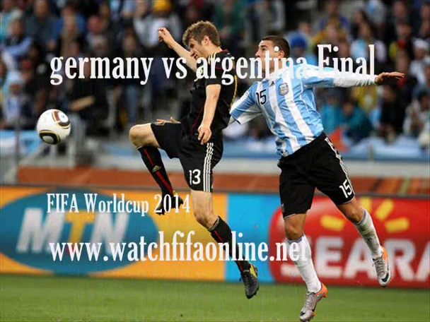 Watch FIFA World Cup 2014 FINAL Now