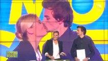"""Bertrand Chameroy embrasse Justine Fraioli dans """"Touche pas à mon poste !"""""""