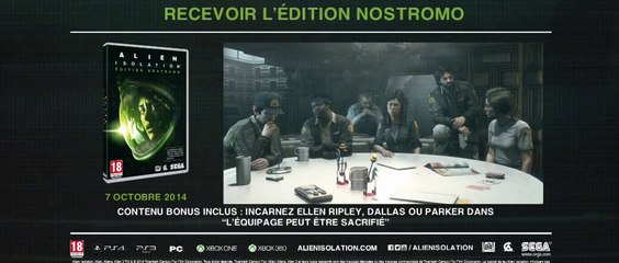 Trailer de l'édition Nostromo de Alien Isolation
