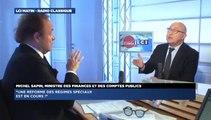 Michel Sapin, invité de Guillaume Durand avec LCI