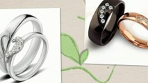 Heart Shaped His and Hers Rings