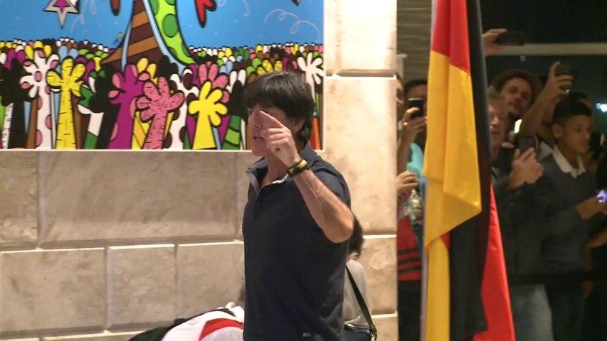 Mondial: arrivée des Allemands à Rio pour la finale