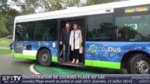 [LOURDES] Josette Bourdeu inaugure Lourdes Plage (12 juillet 2014)