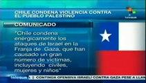 """Condena Chile el """"terrorismo"""" del Estado israelí contra palestinos"""