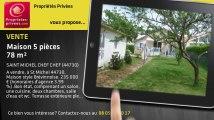 A vendre - maison - SAINT MICHEL CHEF CHEF (44730) - 5 pièces - 78m²