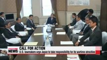 U.S. lawmakers urge Japan to take responsibility for its wartime atrocities
