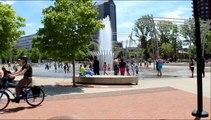 Scioto Mile Fountain at Bicentennial Park in downtown Columbus Ohio