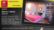 A vendre - maison - BEAUFORT EN VALLEE (49250) - 7 pièces - 155m²