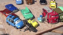 Pixar Cars Hydro Wheels Racers Mack, RED , Lightning McQueen, Mater and Rip Clutchgoneski in the Poo