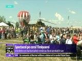 Spectacol pe cerul Timișoarei. Unii dintre cei mai buni piloţi de la noi din ţară s-au întrecut în acrobaţii cu avioane militare