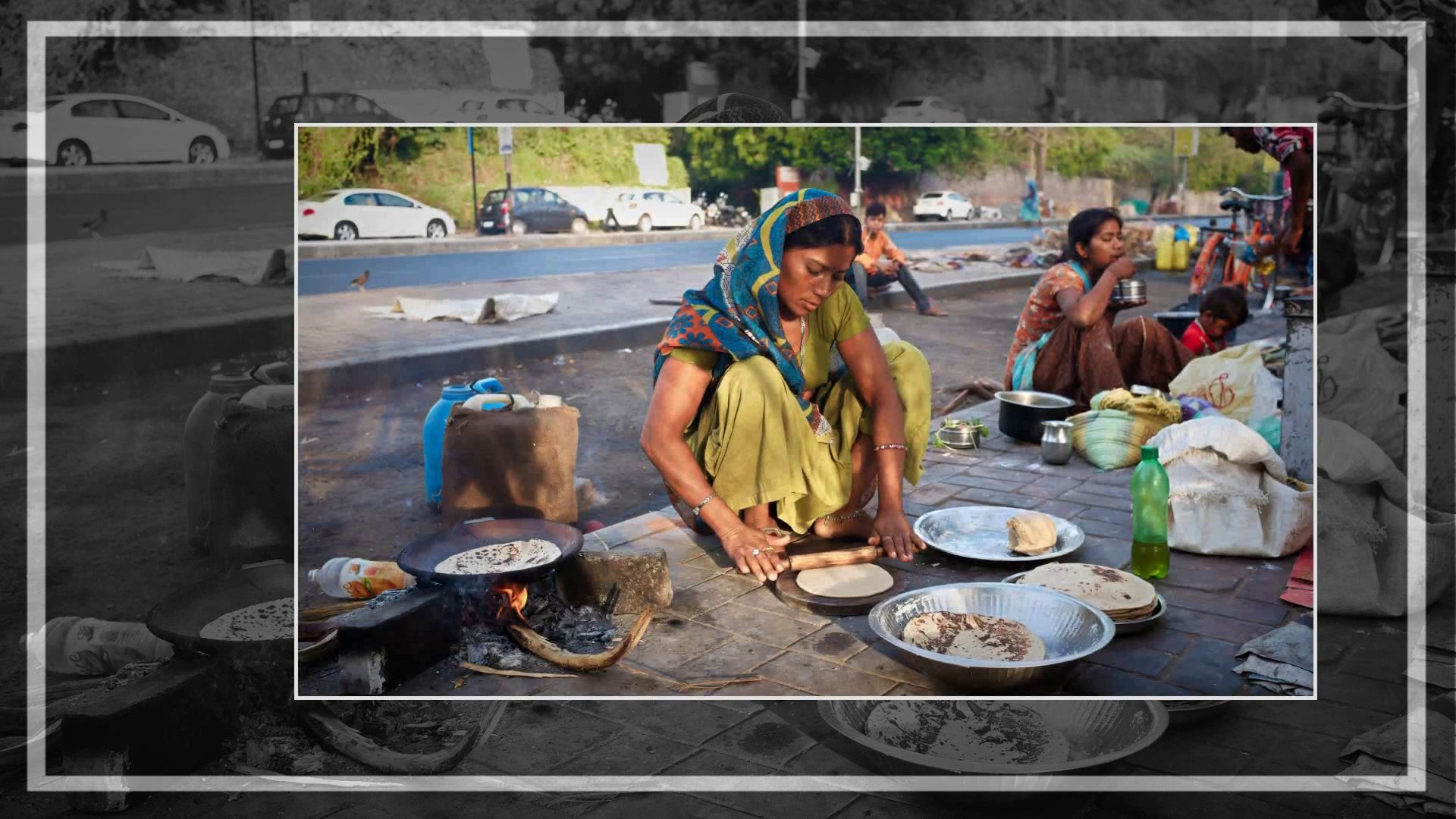 Ahmedabad Summer Morning- Daily Wage Workers Routine Life 2013, India