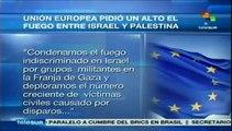 Unión Europea condena ataques entre Israel y Palestina