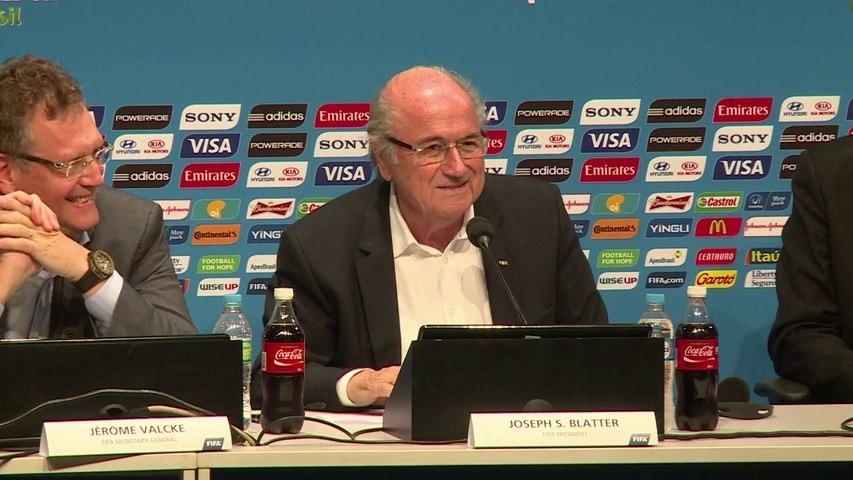 """Blatter: un Mondial """"spécial"""" dû à la qualité des matches"""
