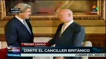 Dimite el canciller británico William Hague