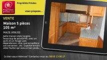 A vendre - maison - MAZE (49630) - 5 pièces - 105m²