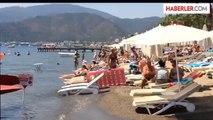 Marmaris Sıcaklıklar Arttı Plajlar Doldu