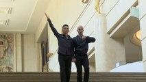 Vue sur les marches : Edmond Russo et Shlomi Tuizer