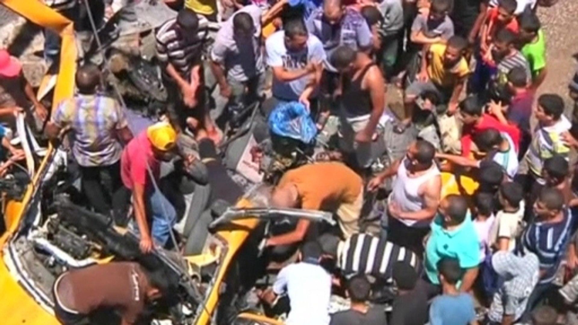 Israeli air strike on car kills three Palestinians