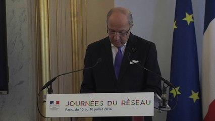 JDR 2014 : Laurent Fabius intevient devant les acteurs économiques du réseau (16/07/2014)