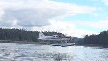 Avion VS Baleine - l'hydravion évite la grosse baleine de justesse à l'atterrissage!