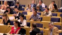 Pablo Iglesias (Podemos) aplaudido en Europa y silenciado por los médios Españoles