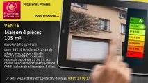A vendre - maison - BUSSIERES (42510) - 4 pièces - 105m²