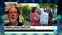 UNITED STATES / ISRAEL / PALESTINIAN TERRITORIES - Israel-Gaza conflict: US civil society divided over who to support