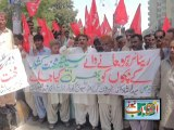 Protest of Labor Front of Karachi Water and Severage Board infront of Karachi Press Club