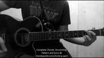 Burning Gold Chords by Christina Perri - How To Play - chordsworld.com