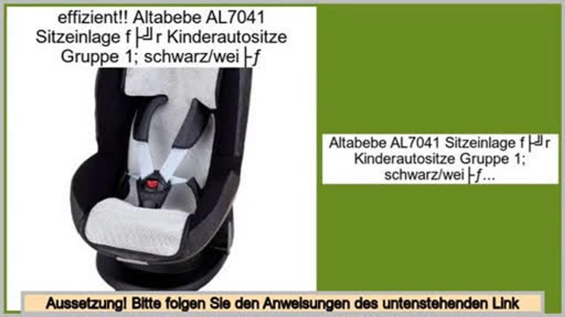 schwarz//wei/ß Altabebe AL7040 Sitzeinlage f/ür Kinderautositze Gruppe 0