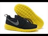 Chaussures Nike Roshe Run Femme rouge mode et noir blanc