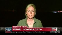 Israelis cheer as Gaza invasion begins