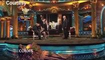Alia with Mahesh Bhatt in 'The Anupam Kher Show'