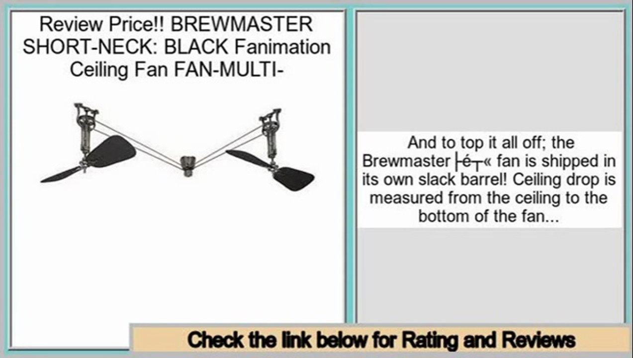 Best Brewmaster Short Neck Black Fanimation Ceiling Fan Fan Multi Video Dailymotion