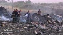 Les débris de l'avion de la Malaysia Airlines