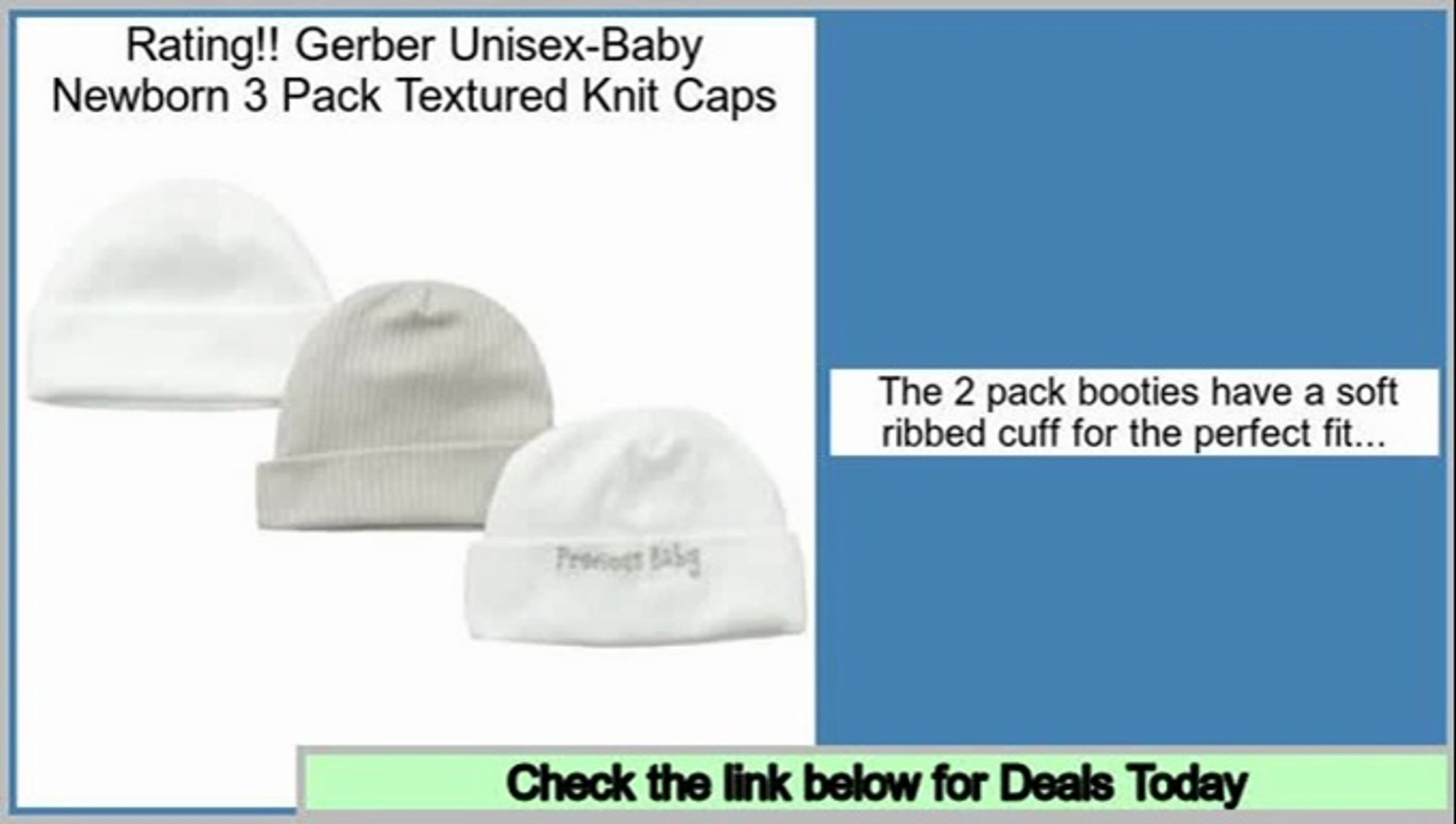 Gerber Baby-girls Newborn 3 Pack Textured Knit Caps