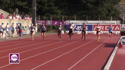 Finale 100 m Juniors Filles