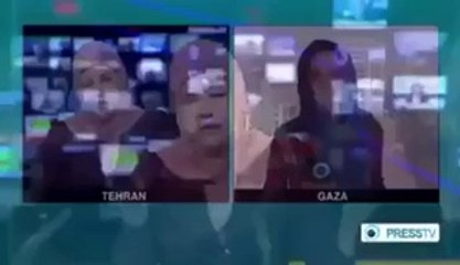 Female Reporter Crying during the reporting on Kids from Gaza Hospital